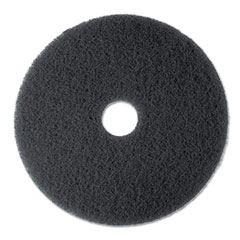 "3M™ High Productivity Floor Pad 7300, 17"" Diameter, Black, 5/Carton"