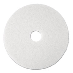 "3M™ Super Polish Floor Pad 4100, 17"" Diameter, White, 5/Carton"