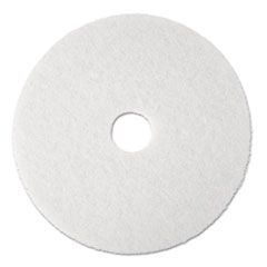 "3M™ Super Polish Floor Pad 4100, 13"" Diameter, White, 5/Carton"