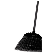 "Rubbermaid® Commercial Lobby Pro Broom, Poly Bristles, 35"", with Metal Handle, Black"