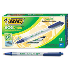 BIC® Ecolutions® Clic Stic® Retractable Ballpoint Pen