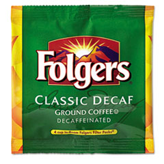 Folgers® Coffee Filter Packs, Decaffeinated, In-Room Lodging, .6 oz, 200/Carton