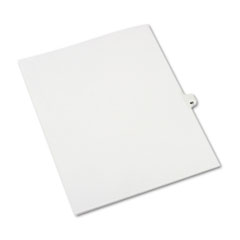 Avery® Avery-Style Legal Exhibit Side Tab Divider, Title: 40, Letter, White, 25/Pack