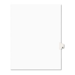 Avery® Avery-Style Legal Exhibit Side Tab Divider, Title: 42, Letter, White, 25/Pack