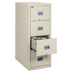 Patriot Insulated Four-Drawer Fire File, 17.75w x 31.63d x 52.75h, Parchment