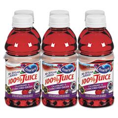 Ocean Spray® 100% Juice, Cranberry Grape, 10oz Bottle, 6/Pack