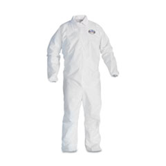 KleenGuard* A30 Breathable Particle Protection Coveralls, White, Large, 25/Carton