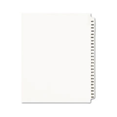 Avery® Avery-Style Legal Exhibit Side Tab Divider, Title: 401-425, Letter, White