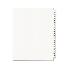 Avery® Avery-Style Legal Exhibit Side Tab Divider, Title: 476-500, Letter, White