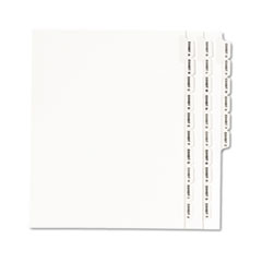 Avery® Avery-Style Legal Exhibit Side Tab Divider, Title: Exhibit A-Z, Letter, White