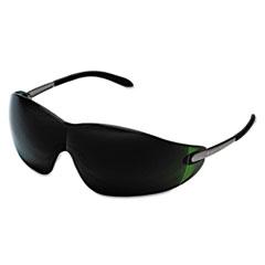 MCR™ Safety Blackjack Safety Glasses, Brass Frame, Green Lens