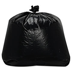 "Trinity Plastics Low-Density Can Liners, 56 gal, 1.6 mil, 23"" x 47"", Black, 100/Carton"