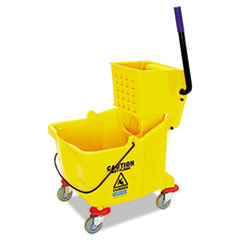 Flo-Pac® Side-Press Bucket/Wringer Combo, 35 qt, Yellow