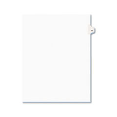 Avery® Avery-Style Legal Exhibit Side Tab Dividers, 1-Tab, Title D, Ltr, White, 25/PK