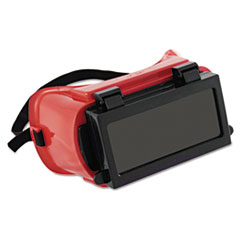 Anchor Brand® Soft-Sided Fixed-Front Plate Goggles, Red Frame, Green Lens