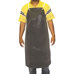 Anchor Brand® Hycar Bib Apron with Cloth Backing, 24 in. x 36 in., Black, One Size Fits All