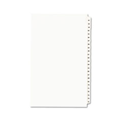 Avery® Avery-Style Legal Exhibit Side Tab Divider, Title: 51-75, 14 x 8 1/2, White