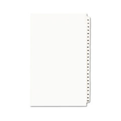 Avery® Avery-Style Legal Exhibit Side Tab Divider, Title: 76-100, 14 x 8 1/2, White