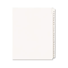 Avery® Allstate-Style Legal Exhibit Side Tab Dividers, 26-Tab, A-Z, Letter, White