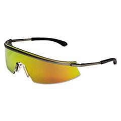 MCR™ Safety Triwear Metal Protective Eyewear, Platinum Frame, Fire Lens