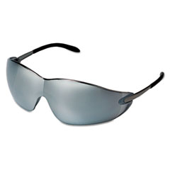 MCR™ Safety Blackjack Protective Eyewear, Chrome Frame, Silver-Mirror Lens
