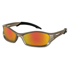 MCR™ Safety Tribal Tattoo Protective Eyewear, Champagne Frame, Fire-Mirror Lens