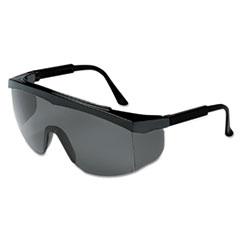 MCR™ Safety Stratos Spectacles, Black Frame, Gray Lens