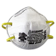 3M™ N95 Particulate Respirator, Half Facepiece, Small, Fixed Strap