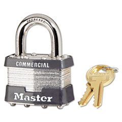 Master Lock® No. 1 Laminated Steel Pin Tumbler Padlock, 4 Pin