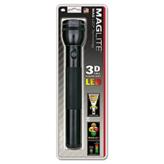 Maglite® LED Flashlight, 3 D Batteries (Sold Separately), Black