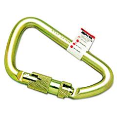 Miller® by Honeywell Twist-Lock Carabiner, 1 Spring-Loaded Gate, 4 1/2 x 2 3/4