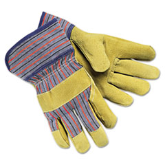 MCR™ Safety Grain-Leather-Palm Gloves, Large