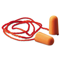 3M™ Foam Single-Use Earplugs, Corded, 29NRR, Orange, 100 Pairs