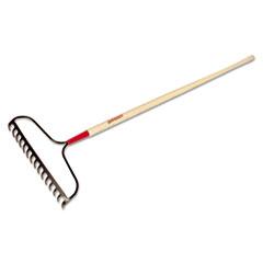 """UnionTools® Bow Rake, 15 Curved Tines, 60"""" Handle, Steel/Ash"""