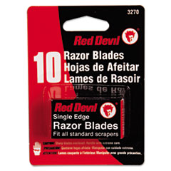 Red Devil® Single Edge Scraper Razor Blades, 2 Packs Of 5 Blades