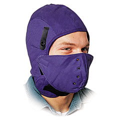 North Safety® Deluxe Fire-Retardant Hard Hat Winter Liner w/Face Protection, One Size Fits All