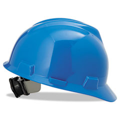 V-Gard Hard Hats, Ratchet Suspension, Size 6 1/2 - 8, Blue