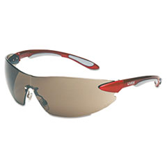 Honeywell Uvex™ Ignite Eyewear, Red/Silver Frame, Gray Lens