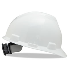 V-Gard Hard Hats, Ratchet Suspension, Size 6 1/2 - 8, White