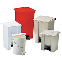 Rubbermaid® Commercial Indoor Utility Step-On Waste Container