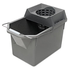 Rubbermaid® Commercial Pail/Strainer Combination, 15qt, Steel Gray