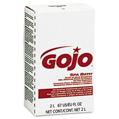 GOJO® Spa Bath Body and Hair Shampoo, Herbal, Rose Color, 2000 mL Refill, 4/Carton