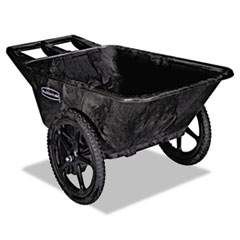 Rubbermaid® Commercial Big Wheel Agriculture Cart, 300-lb Capacity, 32.75w x 58d x 28.25h, Black