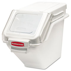 Rubbermaid® Commercial ProSave Shelf Ingredient Bins, 5.4 gal, 11.5 x 23.5 x 16.88, White