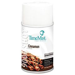 TimeMist® 9000 Shot Metered Air Fresheners Refill, Cinnamon, 7.5 oz Aerosol, 4/Carton