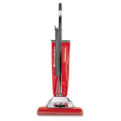 "Sanitaire® TRADITION Bagless Upright Vacuum, 16"" Wide Path, 18.5 lb, Red"