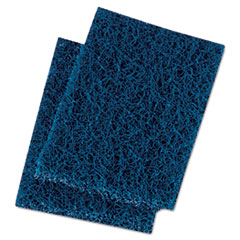 Boardwalk® Extra Heavy-Duty Scour Pad, 3 1/2 x 5, Blue/Gray, 20/Carton