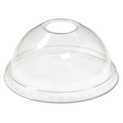 Boardwalk® Cold Cup Dome Lids, 12-24oz Cups, Clear, 75/Sleeve, 12 Sleeves/Carton