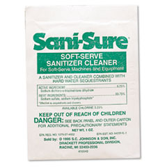Diversey™ Sani Sure Soft Serve Sanitizer & Cleaner, Powder, 1 oz. Packet