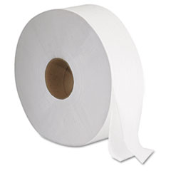 "GEN JRT Jumbo Bath Tissue, Septic Safe, 2-Ply, White, 12"" Diameter, 1,378 ft Length, 6/Carton"